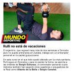 Rulli se ejercita a las órdenes de Sergio Sukunza