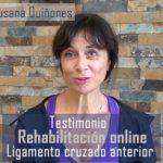 Testimonio de rehabilitación online de Ligamento Cruzado Anterior (LCA)